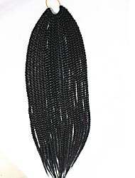 Medium Box Braids Crochet Latch Hook Braiding Hair 18inch Kanekalon Ombre Colors 3X Box Braids Crochet Extensions
