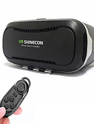shinecon óculos de realidade virtuais 3D 2.0 + controle remoto Bluetooth para telefone 4,5-6,0 polegadas