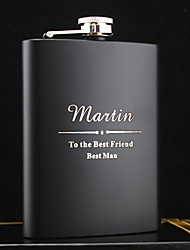 cheap -Personalized Stainless Steel Barware & Flasks Hip Flasks Groom Groomsman Parents Baby & Kids Wedding Anniversary Birthday Congratulations