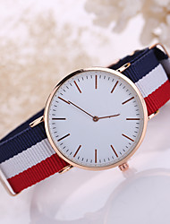 cheap -Korean Style Fabric Band White Case Analog Quartz Watch Jewelry for Men/Women