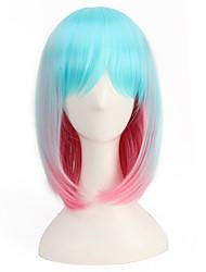 luce blu mista rosa 35cm di breve lunghezza a buon mercato parrucche Harajuku parrucca di lolita naturale stile affascinante