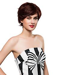 economico -grazioso naturale breve senza tappo ondulati di Remy mano i capelli umani legati parrucche -TOP per donna