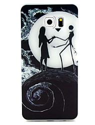 baratos -Para Samsung Galaxy S7 Edge Brilha no Escuro / Estampada Capinha Capa Traseira Capinha Desenho Macia TPU SamsungS7 edge / S7 / S6 edge