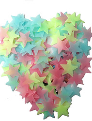 cheap -100Pcs   Children Sticky Childrens Room  Fluorescent Stars Pentagram Style Decorative Stickers
