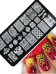 1pcs  New Nail Art Stamping Plates  DIY Geometric Image Templates Tools Nail Beauty XY-J11