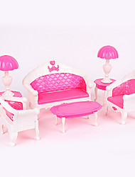 cheap -Doll Accessories Play House Toys For Children Sofa Lamp Creative Toy Set