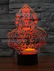 Недорогие -Светодиодный сенсорный светильник таблицы для атмосферы рождества 3d свет ночи Lampara сенсорный светильник с изменением цвета ночной свет