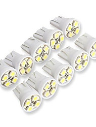 10pcs T10 4SMD 3528 White Car Turn signals LED lamps (DC12V)