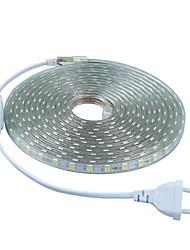 6W Strisce luminose LED flessibili 20 lm AC 220-240 V 5 m 300 leds Bianco caldo Bianco Rosso Blu Verde