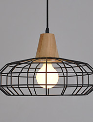 cheap -Single Head Industrial Europian Style Wooden with Metal Pendant Lamp for the Decorate Indoor Pendant Light