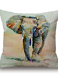 1Pcs Printing Elephant Pattern Cotton Pillow Cover