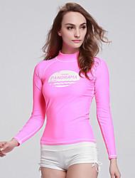 economico -Per donna Mute Dive Skins Top sottomuta Resistente ai raggi UV Compressione Tactel Scafandro Maniche lunghe Scafandri Costumi da bagno-