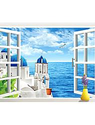 お買い得  -飾りウォールステッカー - 3D ウォールステッカー 3D リビングルーム / ベッドルーム / 浴室 / 取り外し可