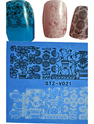 1pcs  New Nails Art Lace Sticker Colorful Image Design Beautiful Lace Flower Manicure Nail Art Tips STZ-V021-25
