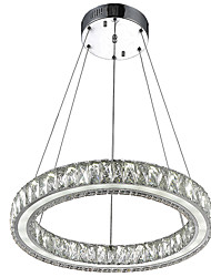 cheap -Crystal Pendant Light Fixtures for Kitchen Living Room Dining Room with Single Ring D40CM 27W CE FCC ROHS
