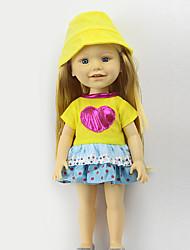 """Недорогие -16"""" Одежда для кукол Куклы Игрушки Костюм Милый стиль Безопасно для детей Милый Non Toxic пластик Девочки 3 Куски"""