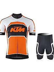 economico -Maglia con pantaloncini da ciclismo Unisex Manica corta Bicicletta Maglietta/Maglia Pantaloncini /Cosciali Set di vestiti Ompermeabile