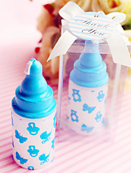 Beter Gifts® Recipient Gifts - Blue baby bottle candle favors, Gender Reveal Party Souvenirs
