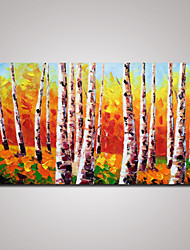 cheap -Stretched Hand-Painted Landscape Oil Painting Palette Knife  Forest Painting Wall Art 60x120cm Ready to Hang