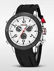 WEIDE Pánské Sportovní hodinky Křemenný Japonské Quartz LED Kalendář Voděodolné Hodinky s dvojitým časem poplach Stopky Silikon Kapela