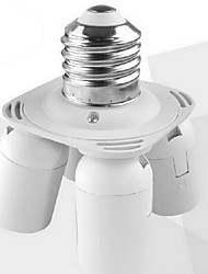 cheap -E27 to 4 E27 LED Bulb Base Socket Adapter High Quality Lighting Accessory