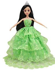 Недорогие -кукла одежда свадьба дизайн одежды полный мешок большой юбка задняя 30 см кукла юбка универсальный (за исключением ребенка) 12