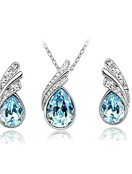 Women's Jewelry Set Necklace/Earrings Crystal Casual Fashion Daily Casual Rhinestone Austria Crystal Alloy Earrings Necklaces