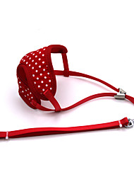 cheap -Dog Harness Leash Adjustable / Retractable Breathable Vest Running Mesh Red