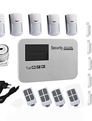 Android Burglar SIM Card Gsm Alarm System Wireless Wired For Home House Security With 5 PIR Detector, 5 Door Sensor