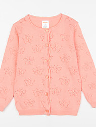 preiswerte -Bluse Alltag Solide Baumwolle Herbst Beige Rosa