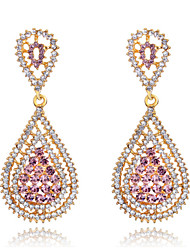 cheap -Women's Crystal Earrings - Fashion Pink For Wedding / Party / Daily / Diamond / Multi-stone / Zircon