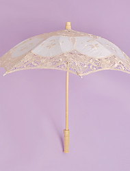 Fashion Lace Flower Umbrella With Wooden Handle