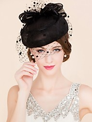 cheap -Tulle Flax Fascinators Hats Birdcage Veils 1 Wedding Special Occasion Casual Headpiece