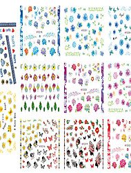 cheap -1pcs Include 11 Styles Nail Art  Stickers Simulate Design Colorful Flowers Image  E314-324