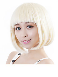 cheap -Synthetic Wig Straight Bob Haircut Blonde Women's Capless Carnival Wig Halloween Wig Synthetic Hair