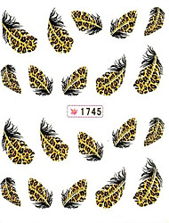 12 Assorted Patterns Feather Nail Art Sticker Nail Sitcker Nails Decal Stickers Fashion Tips for Women
