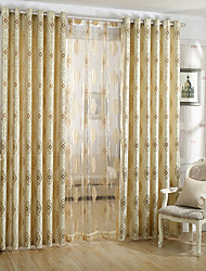 cheap -Curtains Drapes Dining Room Geometic Polyester Jacquard