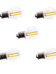 cheap -5pcs G45 4W E27 360LM Dimmable 360 Degree Warm Cool White Color LED Filament Light AC220-240V