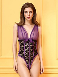 cheap -Women's Sexy Babydoll & Slips / Chemises & Gowns / Gartered Lingerie Nightwear Jacquard / Lace Lingerie / Matching Bralettes / Robes / Ultra Sexy / Teddy