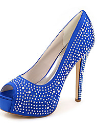 cheap -Women's Shoes Silk Spring / Summer Stiletto Heel Pink / Champagne / Ivory / Wedding / Party & Evening