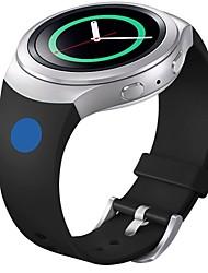 abordables -banda de silicona suave de reemplazo para el deporte reloj inteligente de Samsung s2 engranajes (punto azul rosa)