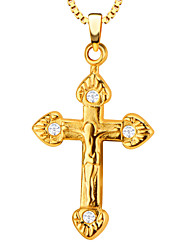 Pendenti Metallo Cross Shape Oro / bianco 50
