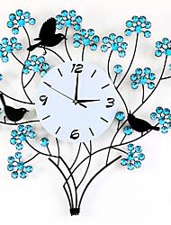 baratos -Moderno/Contemporâneo Outros Relógio de parede,Redonda Metal Relógio