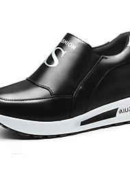 Homme-Décontracté / Sport-Noir / Blanc-Plateforme-Creepers-Sneakers-Synthétique