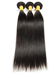 "3 Pcs/Lot 8""-26"" Indian Virgin Human Hair Extensions Straight Remy Weave Hair Natural Black 300G"