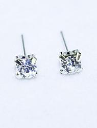 Women's Fashion Flash Diamond Alloy Stud Earrings
