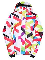 GSOU NEVE® Roupa de Esqui Jaquetas de Esqui/Snowboard Mulheres Roupa de Inverno Poliéster Vestuário de InvernoImpermeável / Respirável /