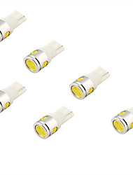 youoklight® 6pcs 5w 400lm 4-led spia auto luce bianca (12v)