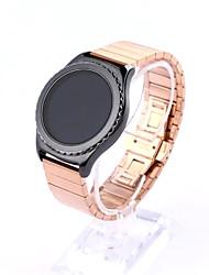 abordables -Noir Rouge Rose Doré Argenté Style Moderne Boucle Classique Bracelet à Maillons Pour Samsung Galaxy Regarder 20mm