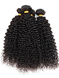 "4 Pcs/Lot 100g/Piece 8""-26"" Virgin Indian Wavy Hair Natural Black Kinky Curly Types Of Hair Extensions"